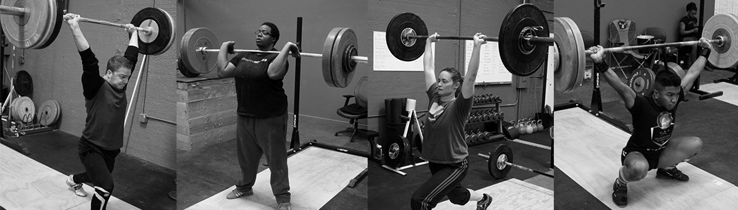 Weightlifters practicing at Front Range Weightlifting Club